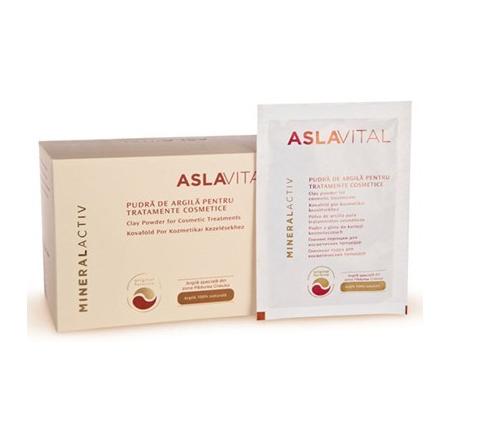 Aslavital Mineralactiv Pudra argila 10 plicuri