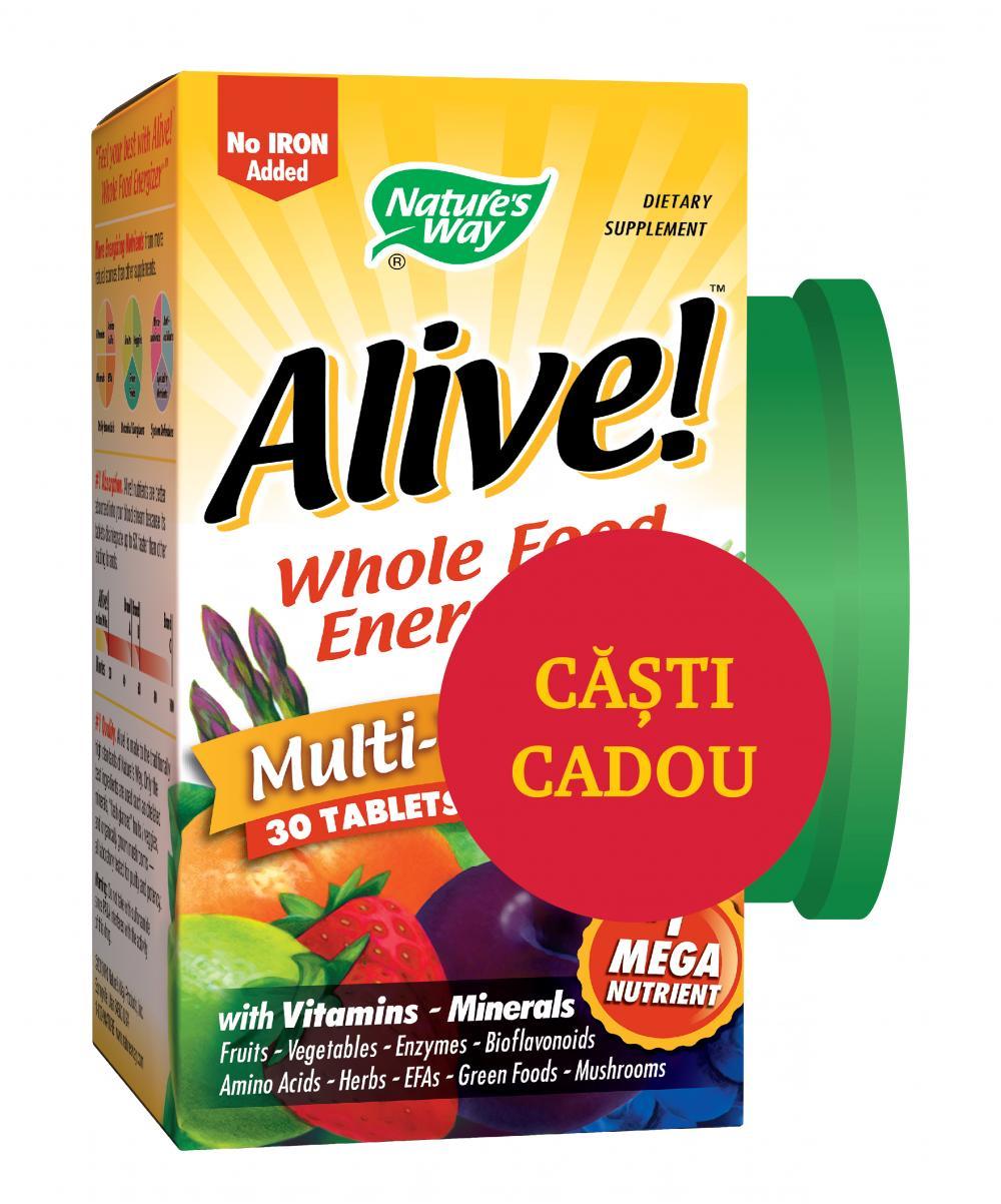 Alive! fara fier 30 tablete + Casti Cadou