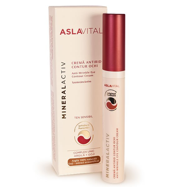 Aslavital Mineralactiv Crema antirid contur ochi ten sensibil 15 ml