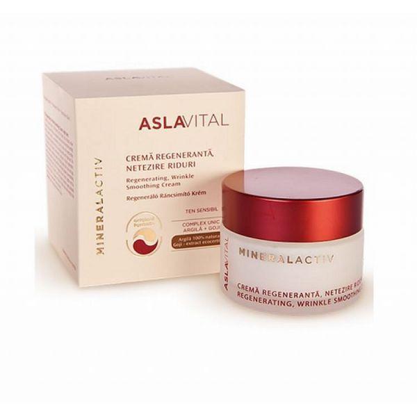 Aslavital Mineralactiv Crema regeneranta si netezire riduri  ten sensibil 50 ml