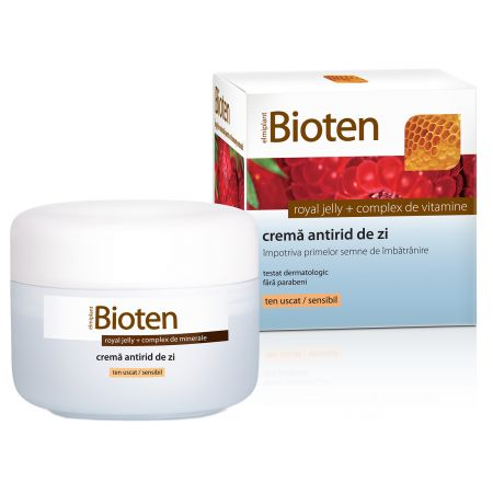 Bioten Crema antirid de zi cu Royal Jelly + complex de vitamine  ten uscat/sensibil  50 ml