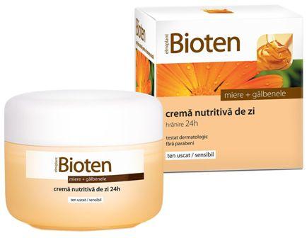Bioten Crema nutritiva de zi cu miere + galbenele ten uscat/sensibil 50 ml