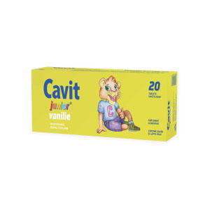 Biofarm Cavit Junior vanilie 20 tablete masticabile