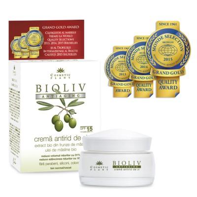 Cosmetic plant BIOLIV ANTIAGING Crema antirid de zi SPF15 ten normal/uscat 50 ml