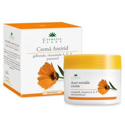 Cosmetic Plant Crema antirid cu extract de galbenele, vitamina A, E si pantenol ten uscat 50 ml