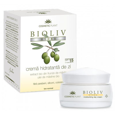 Cosmetic Plant BIOLIV HYDRA Crema hidratanta de zi SPF15 ten normal 50 ml