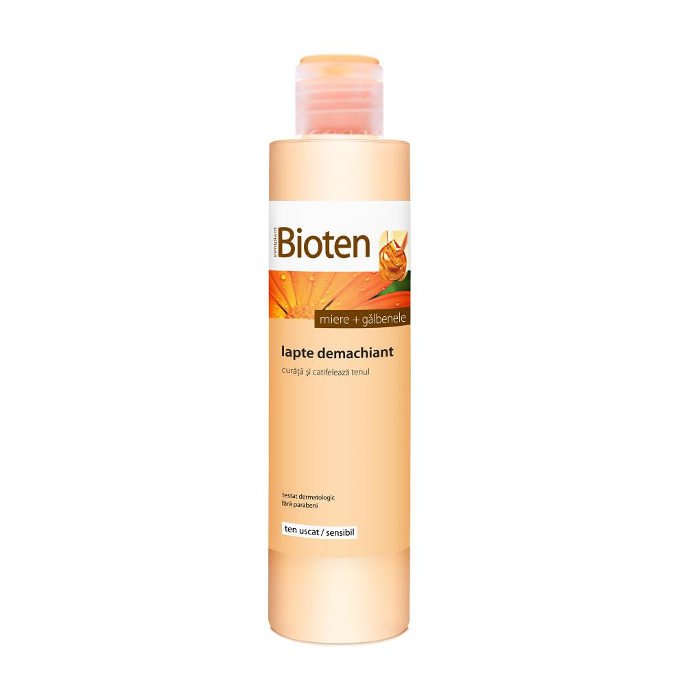 Bioten Lapte demachiant cu Miere + Galbenele ten uscat/sensibil 200 ml
