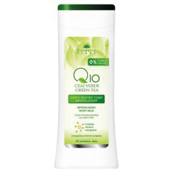 Cosmetic Plant Lapte de corp revitalizant Q10 + ceai verde si complex mineral energizant 200 ml