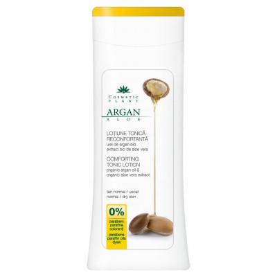 Cosmeic Plant Lotiune tonica reconfortanta cu Ulei de Argan bio si Extract bio de Aloe Vera ten normal/uscat 200 ml
