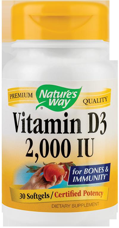 Vitamina D3 pentru adulti 2000 UI 30 capsule