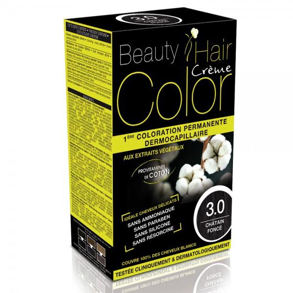 Beauty Hair Creme Color 3.0 Vopsea pentru par saten inchis