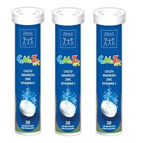 Zdrovit CaMgZn + Vitamina C 20 comprimate efervescente