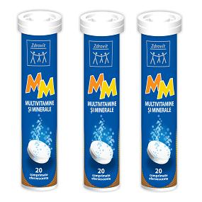 Zdrovit MM Multivitamine si Minerale 20 comprimate efervescente