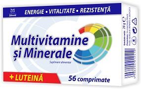 Zdrovit Multivitamine si Minerale cu Luteina 56 comprimate