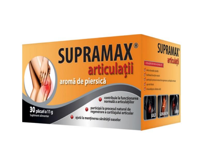 Supramax articulatii cu aroma de piersica 30 plicuri