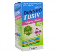Faringo Tusiv Sirop cu Patlagina si Echinacea 120 ml