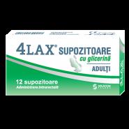 4 Lax Supozitoare cu glicerina pentru adulti 2500 mg 12 bucati