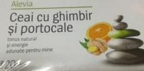 Alevia Ceai ghimbir si portocale 20 plicuri