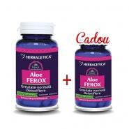 Herbagetica Pachet Aloe Ferox 60 capsule + Aloe Ferox 10 capsule Cadou