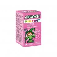 Ascovit Multivit Zmeura 60 comprimate masticabile