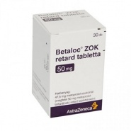 BETALOC R ZOK 50 mg x 30 COMPR. FILM. ELIB. PREL. 50mg ASTRAZENECA AB