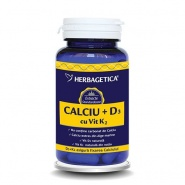 Calciu + D3 + Vitamina K2 60 capsule