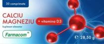 Calciu Magneziu cu vitamina D3 30 comprimate