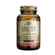 Solgar Calcium Citrat cu Vitamina D3 60 tablete