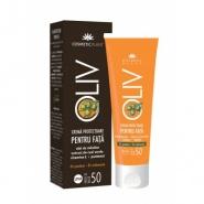 Cosmetic Plant OLIV Crema protectoare pentru fata cu ulei de masline, ceai verde, vit. E, pantenol SPF50 50 ml