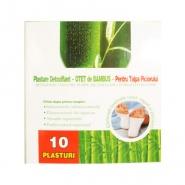Plasture detoxifiant cu Otet de Bambus pentru talpa piciorului 10 bucati