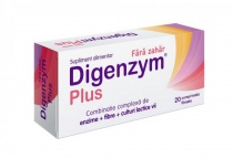 Digenzym Plus fara zahar 20 tablete