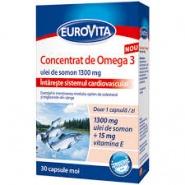 Eurovita Omega 3 Ulei peste oceanic + Vitamina D3 + Vitamina E 30 capsule