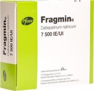 FRAGMIN 7500 UI/0,3 ml x 10 SOL. INJ. 7500ui/0,3ml PFIZER EUROPE MA EEI
