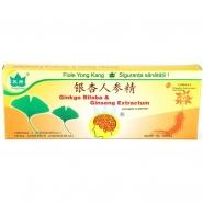 Ginkgo Biloba & Ginseng extractum 10 fiole