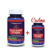 Glicemo Stabil 60 capsule +  Glicemo Stabil 10 capsule Cadou