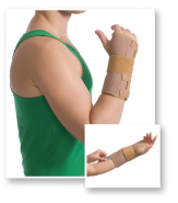 Med Textile 8551 Orteză pentru încheietura mainii cu fixare deget bej L/XL