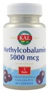 Methylcobalamin 5000 mcg 60 comprimate