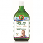 Moller's cod liver oil pure mom&baby sirop 250 ml