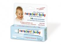 Nenedent Baby Pachet Pasta de dinti 20 ml + Periuta degetar 6-24 luni