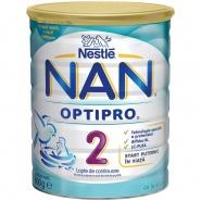 Nestle Nan 2 Optipro 6+ luni Laptele praf 400 g