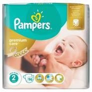 Pampers Premium Care New Born Scutece nr.2 3-6 kg 96 bucati
