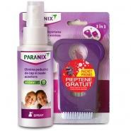 Paranix Spray pentru eliminarea paduchiilor de cap si oualor acestora 100 ml + Pieptene Gratis