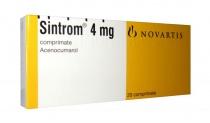 SINTROM 4 mg x 20 COMPR. 4mg NOVARTIS PHARMA GMBH