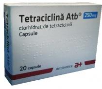 TETRACICLINA ATB 250 mg x 20 CAPS. 250mg ANTIBIOTICE S.A.