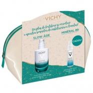 Vichy Pachet Slow age fluid 50 ml + Mineral 89 gel booster 10 ml Cadou