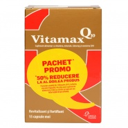 Vitamax Q10 15 capsule 1 + 1 50% din al II-lea