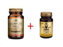 Solgar Vitamina B12 1000 mcg 100 comprimate + Multivitamine VM 2000 14 tablete