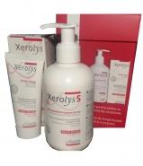 Xerolys Pachet Xerolys 5 Emulsie hidratanta relipidanta 500 ml + Crema de fata 50 ml