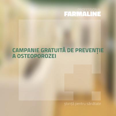 Campanie gratuita de preventie a osteoporozei