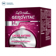 Gerovital H3 Evolution Crema antirid concentrata cu Acid Hialuronic 50 ml